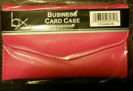 Buxton Pink Stylish Business Card/ Credit Card Case. Snap Closure. Free ... - $4.95