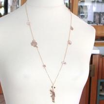 Collar de Plata 925 Laminado en Oro Rosa Le Favole con Niño Infantil Alice - $186.85