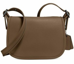 Coach NWT Glovetanned Saddle Bag 18 fatigue brown 57731 crossbody Saddle... - $98.99