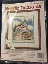 """Needle Treasures Counted Cross Stitch Kit #02681""""On the Lookout"""" Lighthouse &Sea - $10.00"""