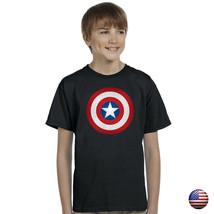 Captain America Avengers Classic Shield Kids Boys Graphic Tshirt - $5.99