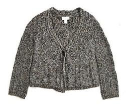 Ann Taylor Loft Metallic Copper Alpaca Wool Knit Cardigan Sweater Jacket Xs P - $12.86
