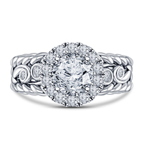 Women's Engagement Ring Round Cut Diamond White Gold Plated Pure Sterlin... - $78.99