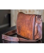 Men's Leather Cross Body Vintage Goat Messenger Bag For Office and Trave... - $43.23+