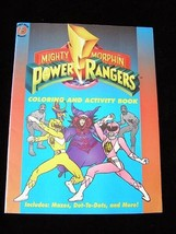 Mighty Morphin Power Rangers Coloring & Activity Book New slight storage... - $19.99