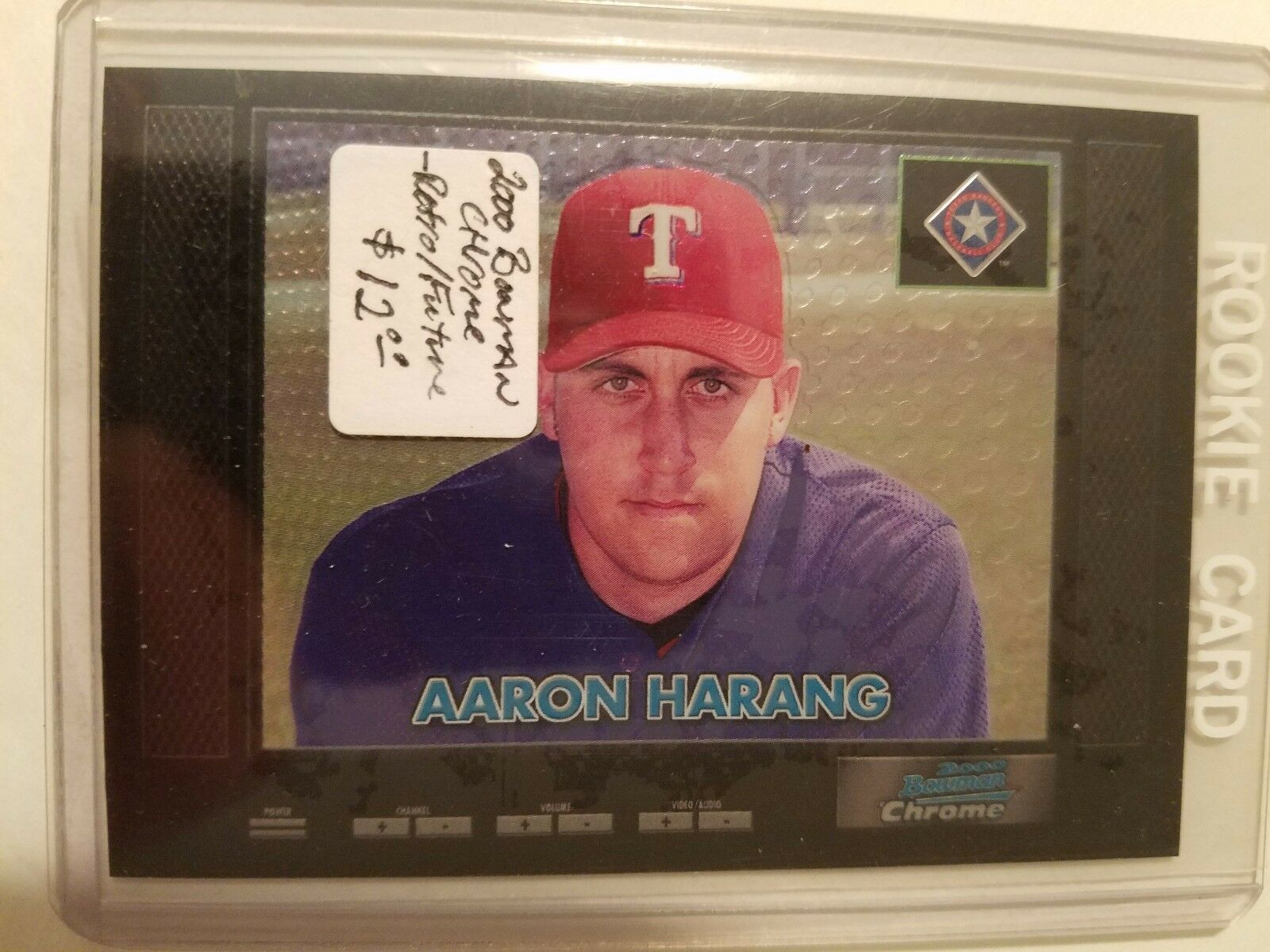Primary image for 2000 Bowman Chrome Retro/Future #190 Aaron Harang : Texas Rangers