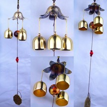 Hanging Wind Chime Bell Chinese Oriental Lucky Metal Pagoda Feng Shui Br... - $18.00