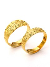 1 Pair Women's Fashion Ring Set Solid Color Simple Design All Match Adju... - $9.99