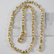 Pulsera Oro Amarillo o Blanco 750-18K, 21 cm Náuticos Travesaño Hecho en... - $207.92