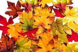 150 Artificial Fall Leaves in a Variety of Autumn Colors - $7.60
