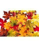 150 Artificial Fall Leaves in a Variety of Autumn Colors - $7.57