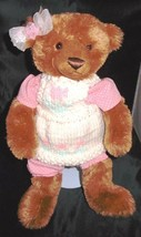 "GUND MATISSE #320120 Girl Brown 14"" Teddy Bear Tulip Outfit w/ Bow - $9.89"