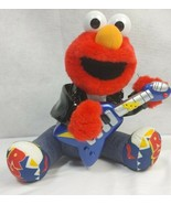 FISHER-PRICE Rock and Roll Elmo with Guitar Plush Doll Toy (2010) Sings ... - $20.90