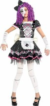 Amscan Beschädigt Puppenkleid Maske Mädchen Süß Kinder Halloween Kostüm 844890 - $47.18