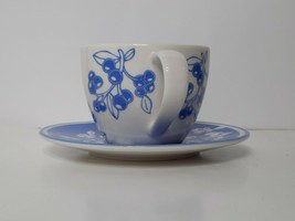 Starbucks Blueberry Pattern 13 oz Coffee Tea Cup and Saucer Set 2007 - $28.00