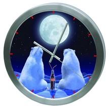 Polar Bear Clock Blue Coca Cola - $54.42