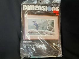 Winter Sentinel Dimensions Needlepoint Kit 2337 Blue Jay Snowy Branch Wool NIP - $47.49