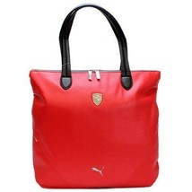 PUMA FERRARI WOMEN'S F1 TEAM SHOPPING TOTE LARGE BAG RED PMMO1033 NEW W/ DEFECTS image 2