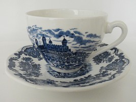 Enoch Wedgwood Royal Homes of Britain Cup and Saucer Blue - $9.62