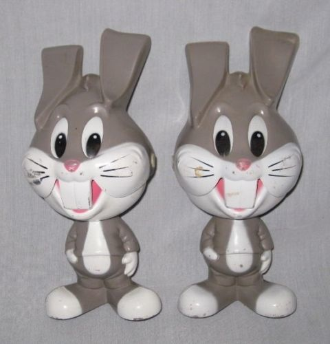 "NEAT Pair 1976 8"" Mattel BUGS BUNNY Pull String Talkers"