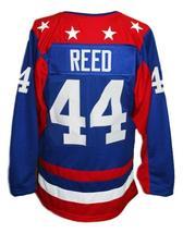 Custom Name # Team USA Retro Hockey Jersey New Sewn Blue Reed #44 Any Size image 2