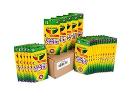 Crayola Colored Pencils 12 Each Pack of 24, Pre-sharpened, Assorted Colo... - $41.84