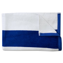 Tropical Cabana Stripe Beach Pool Cotton Velour Towel 34 x 68 Royal 1 Pack - $107.10