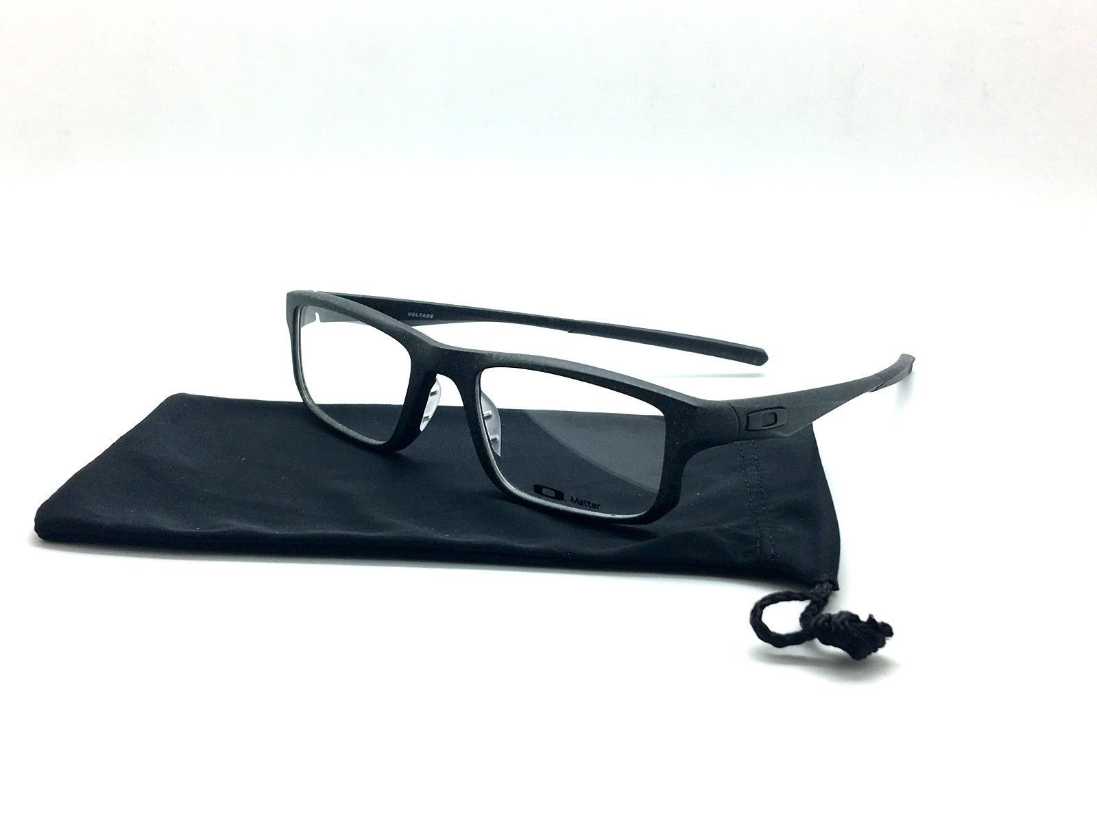 ea15cbe6f1 Oakley Matte Black Eyeglasses Voltage OX8049-0553 Space Mix Optical Frame  53mm