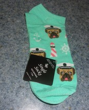 Brand New Girls Size 6 to 8 Captain Pug Ankle Socks For Dog Rescue Charity - $7.34