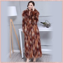 Long Shaggy Mongolian Tibetan Lambs Warm Curley Long Hair Faux Fur Over Coat