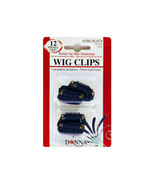 Donna Wig Clips Perfect for Hair Extensions 12pk Small #7982 Black - $3.95