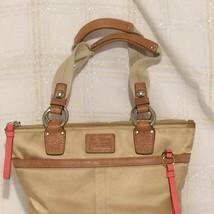 COACH 11744 Purse Satin Tote Authentic Designer Handbag Golden Brown - £49.63 GBP