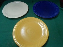 "Great Fiesta Pottery Set Of 3 BREAD-SALAD-DESSERT Plates 7"". Multi Colors - $15.43"