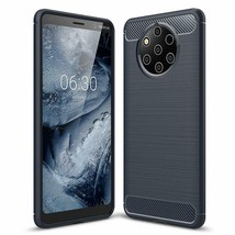 Nokia 9 PureView Case Soft Brushed TPU Brushed AntiFingerprint Cover Navy - $13.80