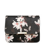 Women Floral Print Messenger Bags Fashion Vintage Small Shell PU Leather... - $13.14