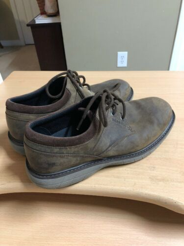 Merrell Men's US 10 MED World Vue Lace Up Oxford Brown Full Grain Leather