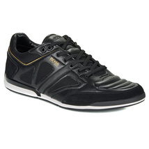 Hugo Boss Men's Premium Sport Leather Sneakers Shoes Saturn Lowp Strf image 9