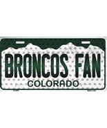 Broncos Colorado State Background Metal License Plate Tag (Broncos Fan) - $11.95