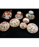 Asian Cups Saucers Rice Sugar Bowls Collectible Arts Crafts Mosaic Tiles... - $29.95