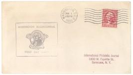 1932 Washington Bicentennial First Day Cover 2c Scott #707 FDC Bi-Centen... - $9.49