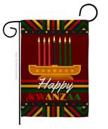 Happy Kwanzaa - Impressions Decorative Garden Flag G164233-BO - $19.97