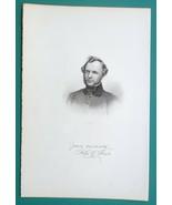JOHN G SAXE American Poet - 1854 Portrait Antique Print - $9.00