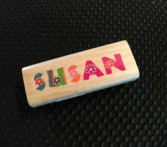 "Susan Name Stamps Wood Mounted Rubber Stamp 3""x1"" crafting scrapbook card - $5.04"