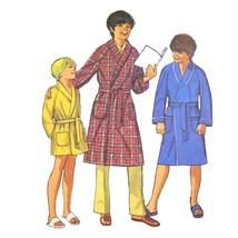 70s Vintage Simplicity Sewing Pattern 9635 Easy Boys Robe Look Alike Fas... - $6.95