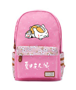 Natsume s book of friends nyanko sensei pink backpack schoolbag for kids thumbtall