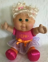 """2011 Cabbage Patch Kid Pink Ballerina Outfit Platinum blond Pig Tails CPK 9"""" - $13.85"""