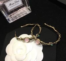 AUTHENTIC Christian Dior 2019 LE PRINTEMPS DE DIOR Enamel Hoop Earrings RARE image 7