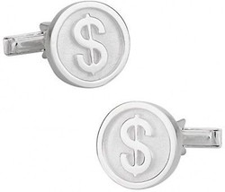 Cuff-Daddy 925 Sterling Silver Dollar Sign Finance Wall Street Cuff Lin... - $131.81