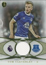 2016 TOPPS PREMIER GOLD TOM CLEVERLEY EVERTON PLAYER WORN JERSEY RELIC CARD - $14.95