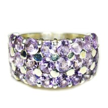 Real Purple Amethyst Ring Silver Band Handmade Jewelry US 4,5,6,7,8,9,10... - $42.87